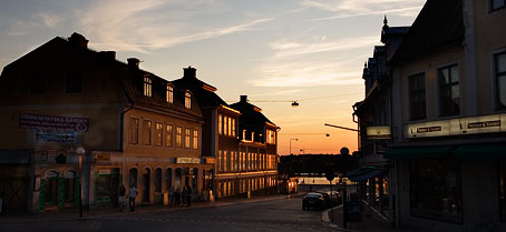 Sun setting in beautiful Karlskrona